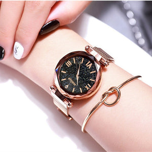 Luxury Women Watches Magnetic Starry Sky Female Clock Quartz Wristwatch Fashion Ladies Dress Bracelet Dropshipping