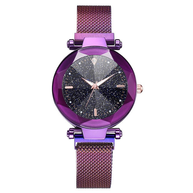 Luxury Women Watches 2019 Ladies Watch Starry Sky Magnetic Waterproof Female Wristwatch Luminous relogio feminino zegarek damski