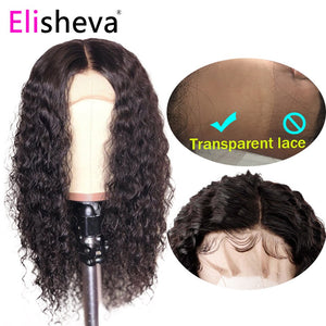 HD transparent lace curly wig long lace front human hair wigs 13x4 malaysian remy natural bleached knots pre plucked glueless