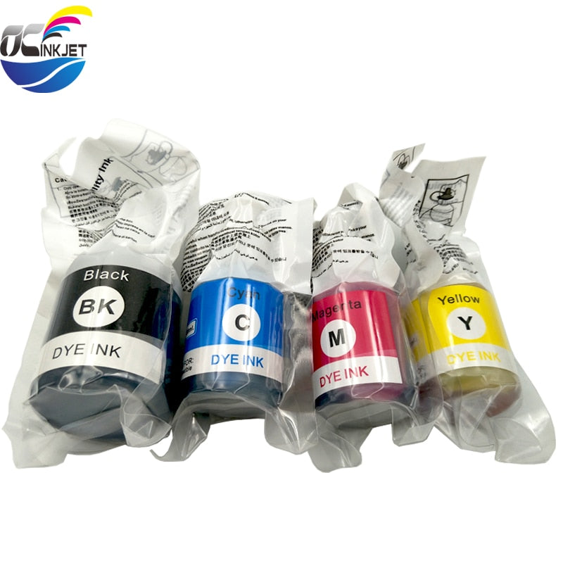 OCINKJET 4 colors Universal Vivid Water Based Dye Refill Ink Kit For Brother T300 T500DW T700DW T800DW Inkjet Printer Inks