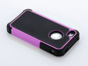 Pen+Phone Case for iPhone 4 4S Rugged Rubber Matte Hard Silicone Case Cover Screen Protector as Gift
