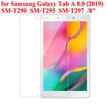 "Load image into Gallery viewer, Tempered Glass Screen Protector CASE Film for Samsung Galaxy Tab A 8.0 2019 Tablet SM-T290 SM-T295 SM-T297 8"" Glass"