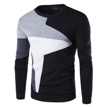Load image into Gallery viewer, ZOGAA Pullover 2019 New Autumn and Winter 3 Color Men's Color Matching Casual Long Sleeve Pullover Sweater Big Size XXS-4XL