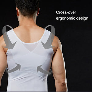 Men Slimming Body Shaper Waist Trainer Belly Compression Vest Gym Tops AIC88