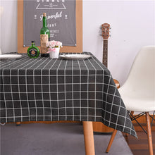 Load image into Gallery viewer, Christmas Tablecloth Christmas Tree and Deer Linen and Cotton Fresh Table Cloth New Korean Style Toalha De Mesa