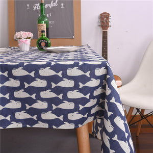 Christmas Tablecloth Christmas Tree and Deer Linen and Cotton Fresh Table Cloth New Korean Style Toalha De Mesa