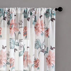 Floral Printed Short Curtains For Kitchen Voile Curtains For Living Room Voile Curtains Window Drapes Customized Fabric Drapes
