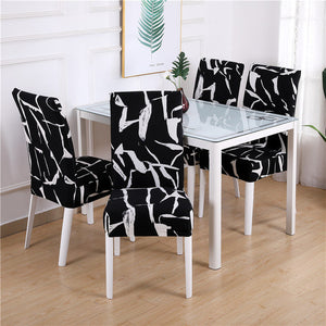 1PC Floral Print Chair Cover Dining Elastic Chair Covers Spandex Stretch Elastic Europe Style  Anti-dirty Removable 1/2/4/6piece
