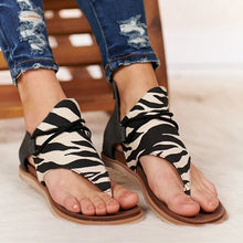 Load image into Gallery viewer, Women Sandals Summer 2020 Leopard Flip Flops Gladiator Comfortable Woman Zip Female Beach Shoes Casual Footwear Plus Size 35-43