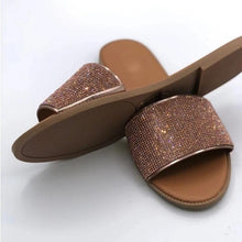 Load image into Gallery viewer, Sparkling Rhinestone Candy-colored Slippers 2020 Women Home Flip Flop Casual Shoes Snakeskin Diamond Flat Outdoor Wild Sandals