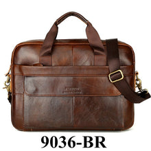 Load image into Gallery viewer, Men's Cowhide Leather Briefcase Mens Genuine Leather Handbags Crossbody Bags High Quality Luxury Business Messenger Bags Laptop