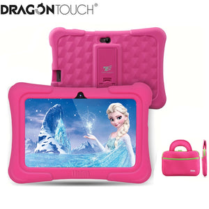 Dragon Touch Y88X Plus 7 inch Kids Tablet for Children 16GB Quad Core Android 8.1 +Tab bag+ Screen Protector gifts for Child Kid
