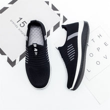 Load image into Gallery viewer, Women Flat Shoes Knit Woman Casual Slip On Vulcanized Shoes Female Mesh Soft Breathable Women's Footwear For Ladies Sneaker