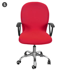 Stretch Office Computer Chair Cover Rotating Desk Seat Polyester Spandex Waterproof Elastic Chair Slipcover Washable Removeable