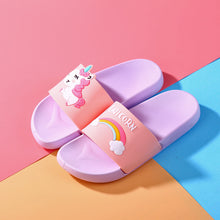 Load image into Gallery viewer, Cartoon Unicorn Cute Animal Fruit Women Home Slippers Summer Sandals Ladies Slides Indoor House Shoes Flip Flops Sandalias Mujer