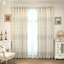 Load image into Gallery viewer, Grey Blackout  Curtains for living room bedroom  windows treatment  luxruy Jacquard thick curtain