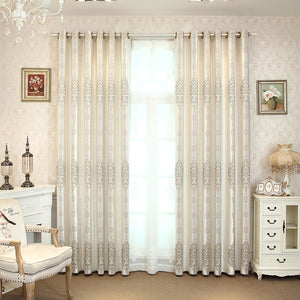 Grey Blackout  Curtains for living room bedroom  windows treatment  luxruy Jacquard thick curtain