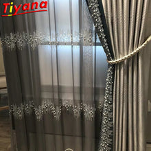 Load image into Gallery viewer, French Luxury Embroidery Sequins Tulle Curtains for Living Room Pearls sequins Curtains Yarn for Bedroom Customized X-M232#30