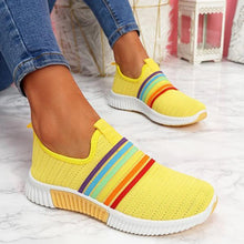 Load image into Gallery viewer, Women Sneakers Woman Rainbow Color Vulcanized Women's Mesh Breathable Flat 2020 Ladies Comfortable Footwear Female Running Shoes
