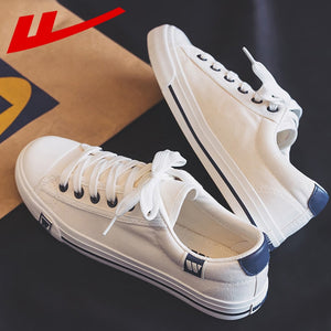 Warrior Women Vulcanize Shoes Classic Canvas Sneakers Solid Color Casual Platform Shoes Breathable Lace-up Fashion White HOT