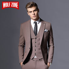 Load image into Gallery viewer, Sale Brand Mens Suit Jacket Formal Business Blazer Men Groom Three Pieces Slim Fit Party Clothing Single Button Wedding Dress