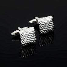 Load image into Gallery viewer, Luxury Fashion Laser Engraved Check Sudoku Design Cufflink 18 style for mens Brand cuff buttons cuff links High Quality Jewelry