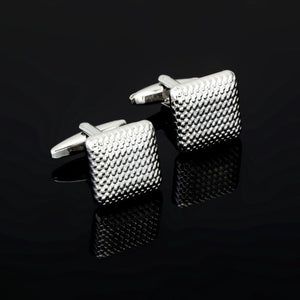 Luxury Fashion Laser Engraved Check Sudoku Design Cufflink 18 style for mens Brand cuff buttons cuff links High Quality Jewelry