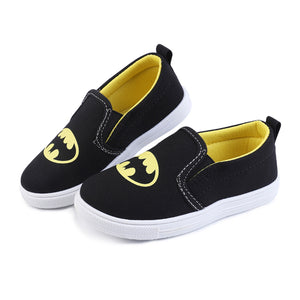 New Children Superman Spiderman Batman Shoes Girls Boys Kids Fashion Cotton Padded Sneakers Christmas/Halloween Shoes Size 20-31