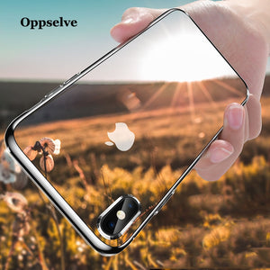 Oppselve 5D Screen Protector Tempered Glass Case For iPhone Xs Max Xr X 8 7 6 S Plus Luxury Glossy Back Cover For iPhonX Capinha