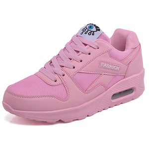 Women Sneakers Breathable Outdoor Walking Shoes Woman Mesh Casual Shoes Pink Lace-Up Ladies Shoes 2019 Fashion Female Sneakers