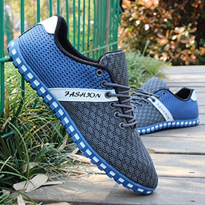 Men Casual Shoes Spring Air Mesh Fabric Cloth Patchwork Mens Loafers Leisure Canvas Shoe For Men Cool Walk Shoes Big Size