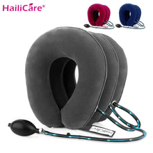 Load image into Gallery viewer, US Stock3 Layer Inflatable Air Cervical Neck Traction Device Soft Neck Collar for Pain Relief Neck Stretcher Pain Releave