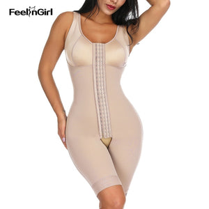 Feelingirl Fajas High Compression Waist Trainer Full Body Shaper Overbust Slimming Sheath Corset Girdle Butt Lifter