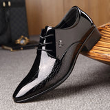New italian oxford shoes for men luxury mens patent leather wedding shoes mens pointed toe dress shoes classic derbies 871