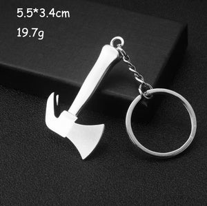 Keychains For Men Car Bag KeyRing Outdoor Combination Tool Portable Mini Utility Pocket Clasp Ruler Hammer Wrench Pliers Shovel