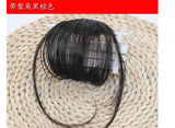 Thin Air Neat Wispy Bangs Real Remy Human Hair Clip In Fringe Front Hairpiece Air Bangs Remy Human Hair Extensions Clip 2019 New
