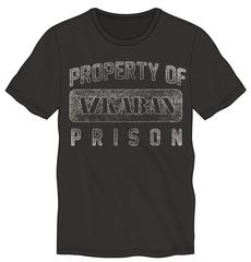 Harry Potter Property of Azkaban Prison Men's Black T-Shirt Tee Shirt