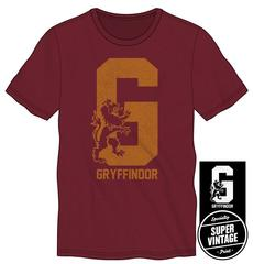 Harry Potter Gryffindor House Pride Big G with Lion Men's Burgundy T-Shirt