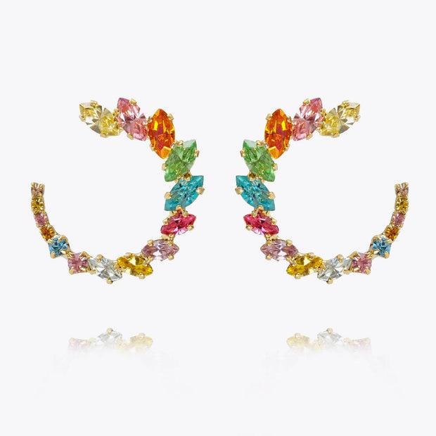 Caroline Svedbom - Angie Earrings Rainbow Combo Gold