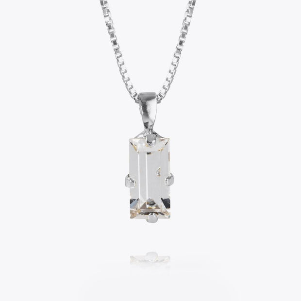 Caroline Svedbom - Baguette Necklace Crystal Rhodium