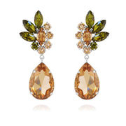 Caroline Svedbom - Nike Earrings Olivine + Light Peach + Light Colorado Topaz Rhodium