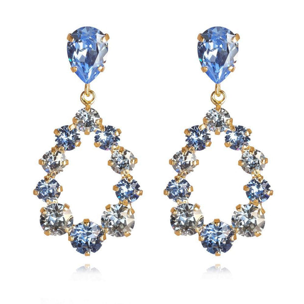 18k gold plated feminine and colorful Earrings with swarovski crystals