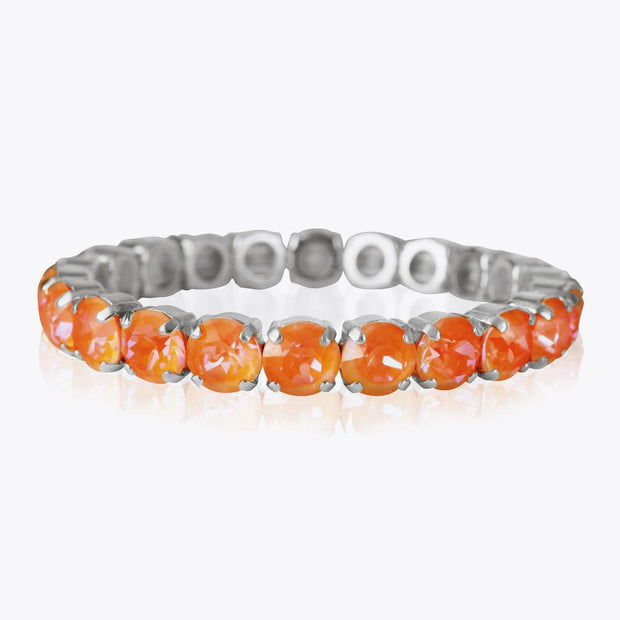 Caroline Svedbom - Mini Drop Bracelet Orange Glow Delite Rhodium