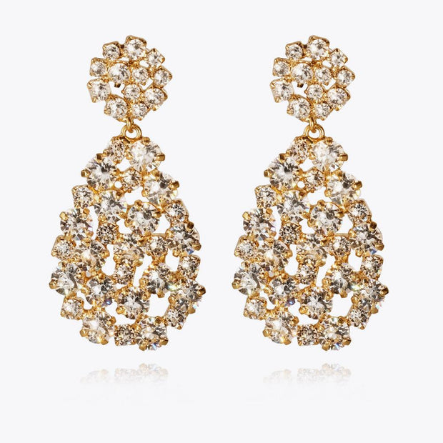 Caroline Svedbom - Hanna Earrings Crystal Gold