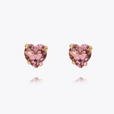 18K Gold plated heart earring with swarovski crystals