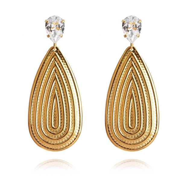 18k gold plated Bohemian Earrings with swarovski crystals