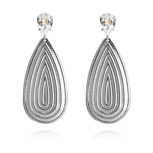 Rhodium plated  Bohemian Earrings with swarovski crystals