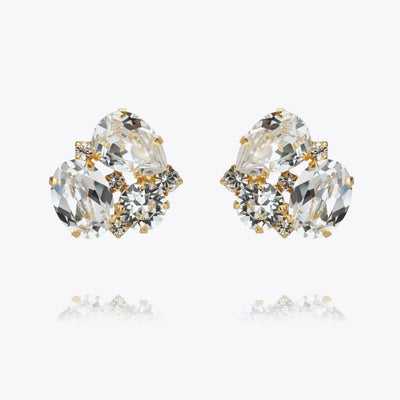 Caroline Svedbom - Carolina Earrings Crystal Guld