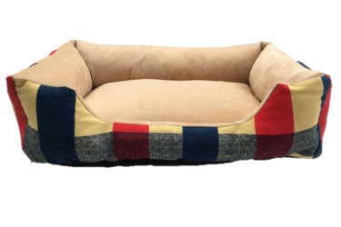 Soft Striped Dog Bed