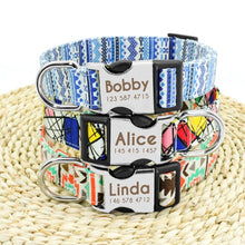 Load image into Gallery viewer, Personalized Collar with Geometric Designs
